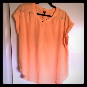 EUC Maurices light Orange Blouse Sz XL